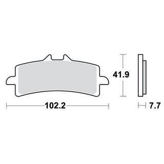 MCB brake lining carbon front for Kawasaki ZX-10R 1000 Ninja