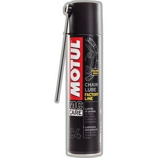 Motul MC CARE  C4 CHAIN LUBE Factiry Line Hochleistungs-Kettenspray 400 ml