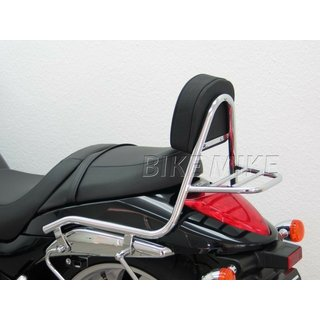Fehling Sissy Bar made of pipe with cushions and Rearrack  for Suzuki M 1800 R/R2 Intruder (VZR 1800), (WVCA) 2006-